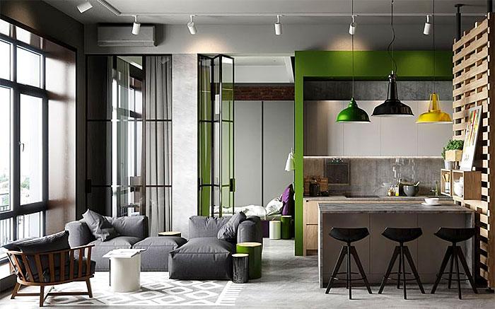Thiết kế thi công nội thất căn hộ 50m2 - Hình 06