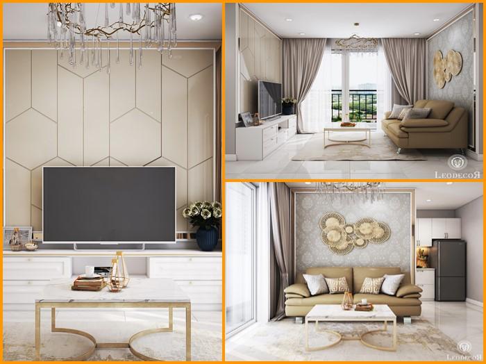 thiết kế thi công nội thất căn hộ saigon mia - hinh 01