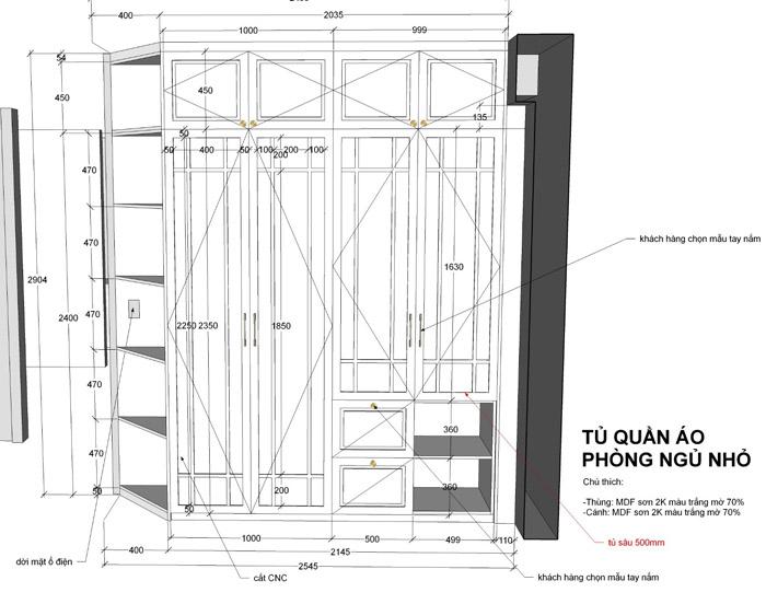 thiết kế thi công nội thất căn hộ saigon mia - hinh 25