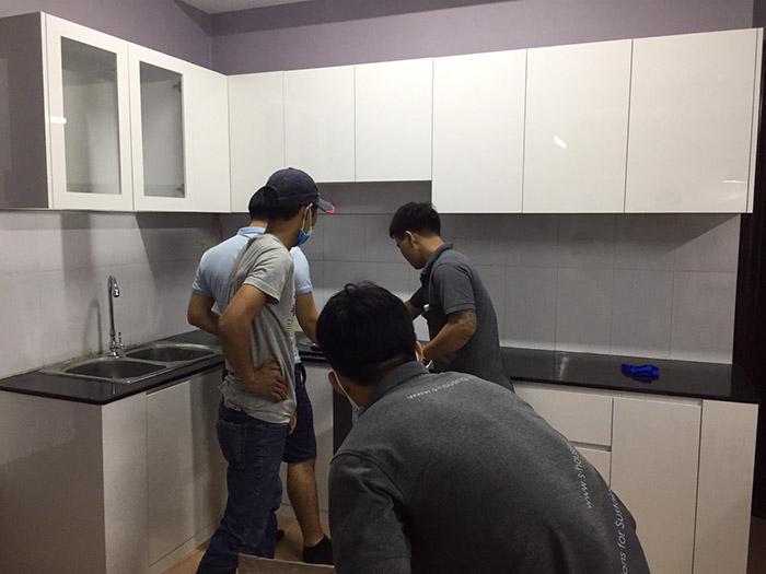 Thi công nội thất nhà bếp căn hộ Sơn Kỳ Q.Tân Phú - Hình 08