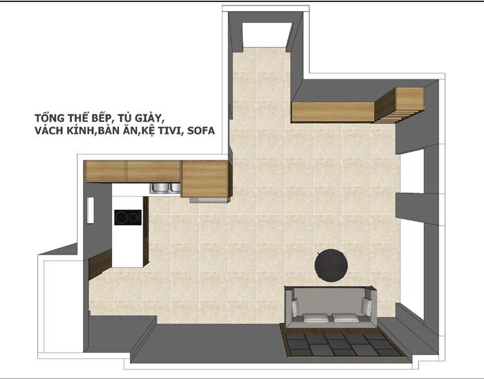 thiết kế nội thất căn hộ mỹ phúc quận 8 - 02