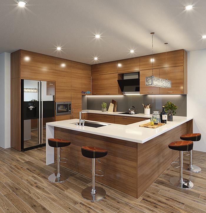 tủ bếp đơn giản mà đẹp - mẫu 12