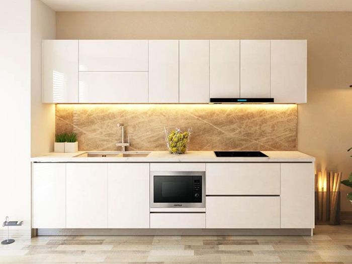 tủ bếp đơn giản mà đẹp - mẫu 02