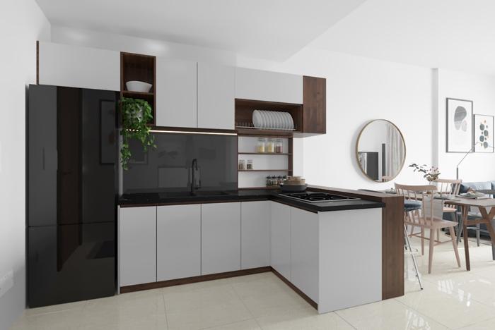 tủ bếp đơn giản mà đẹp - mẫu 05