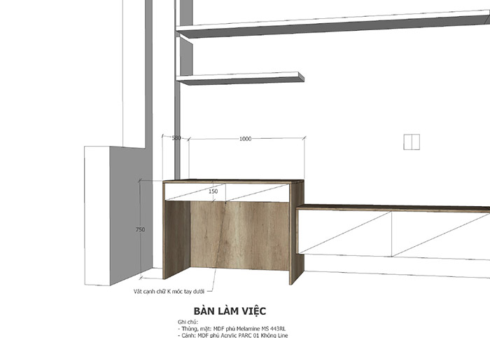 thiết kế nội thất nhà phố khu đô thị him lam - hình 07