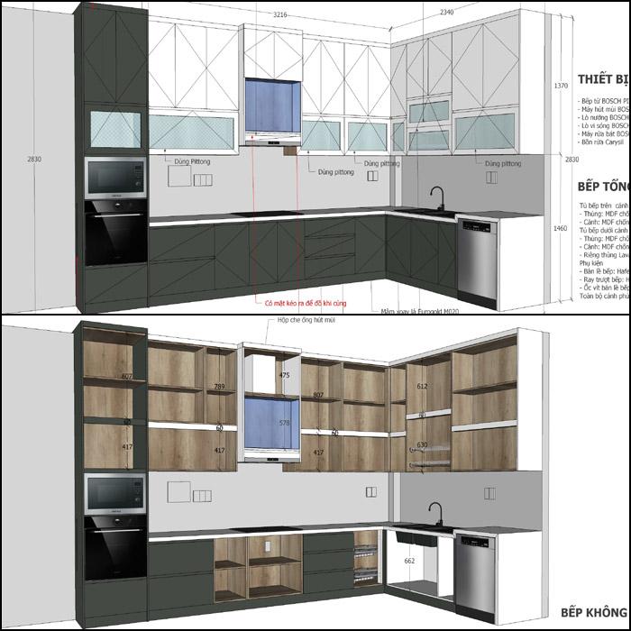 thiết kế nội thất nhà phố khu đô thị him lam - hình 02