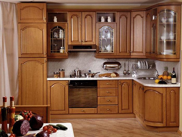 mẫu tủ bếp gỗ tự nhiên đẹp - mẫu 05
