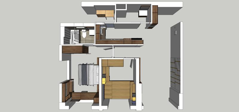 Thi công nội thất căn hộ chung cư Dragon Hill 2 - Hình 03