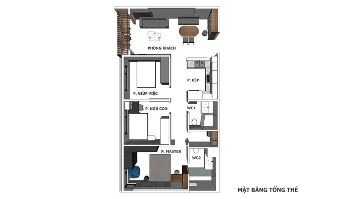 Thi công nội thất căn hộ chung cư Diamond Lotus - Hình 09