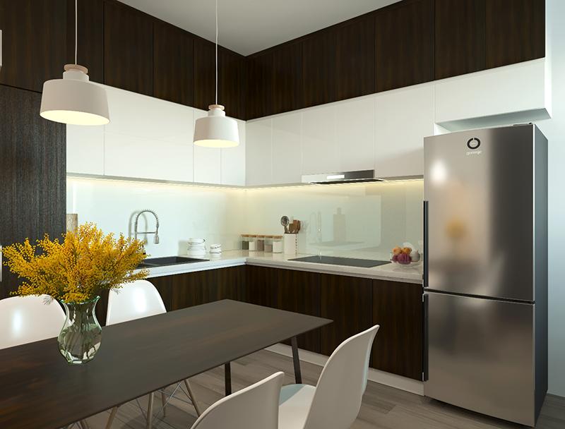 Bản vẽ 3D thiết kế bếp kết nối phòng ăn tiện lợi – hình 20