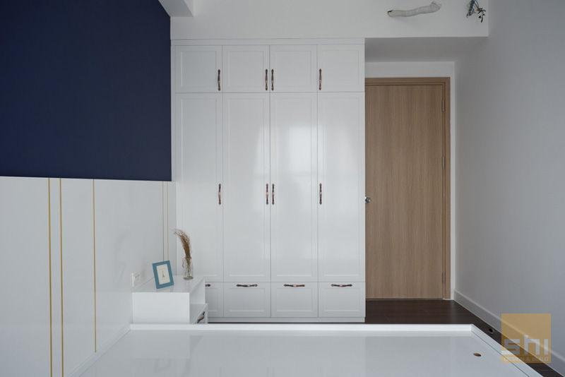 Hình ảnh hoàn thiện thiết kế nội thất phòng ngủ nhỏ căn hộ The Sun Avenue