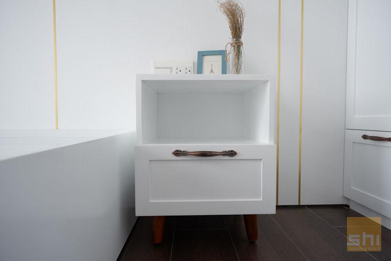 Hình ảnh hoàn thiện thiết kế nội thất tủ đầu giường phòng ngủ nhỏ