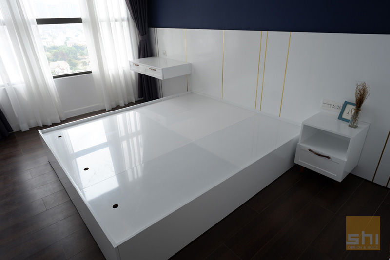 Hình ảnh hoàn thiện thiết kế giường ngủ cho phòng ngủ nhỏ