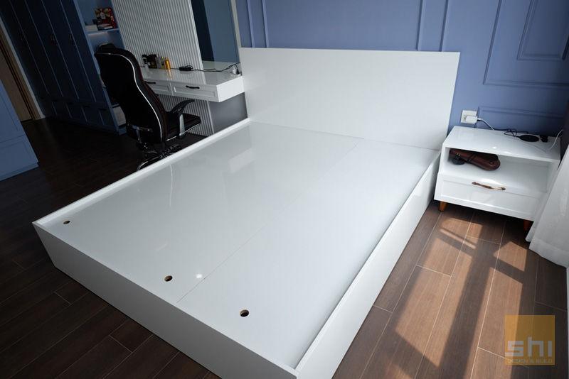 Hình ảnh hoàn thiện thiết kế giường ngủ cho phòng ngủ Master