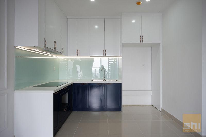 Hình ảnh hoàn thiện thiết kế tủ bếp căn hộ The Sun Avenue – 1