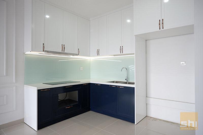 Hình ảnh hoàn thiện thiết kế tủ bếp căn hộ The Sun Avenue – 2