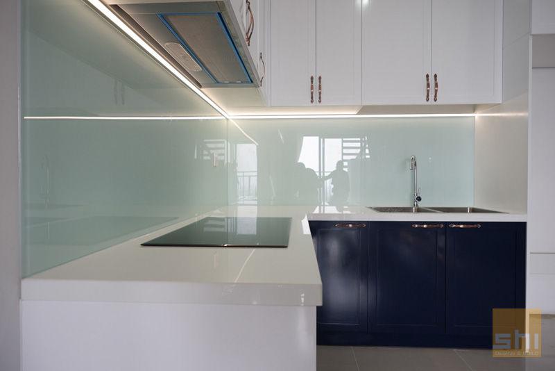 Hình ảnh hoàn thiện thiết kế tủ bếp căn hộ The Sun Avenue – 3