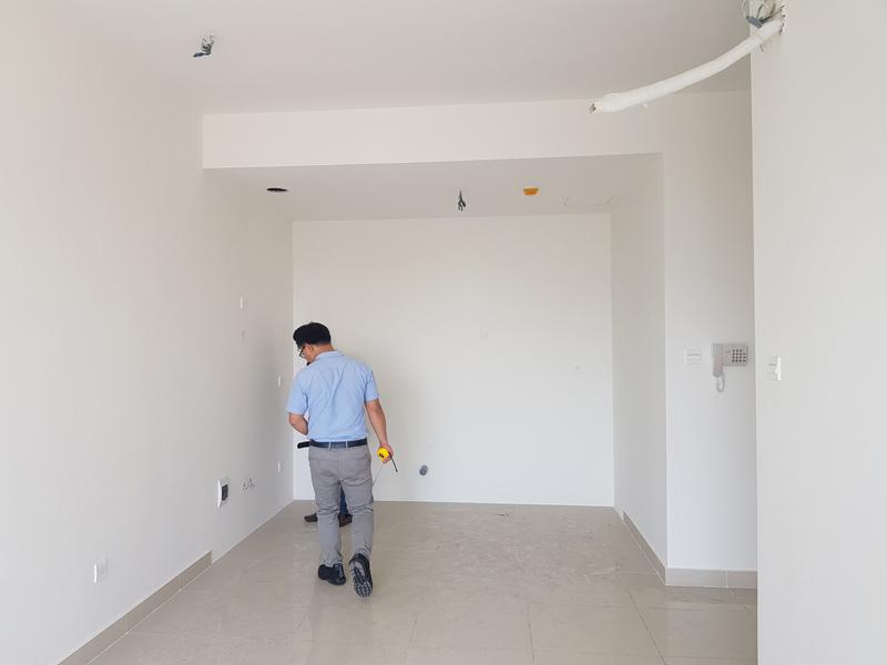 Hình ảnh hiện trạng căn hộ The Sun Avenue khu vực phòng bếp