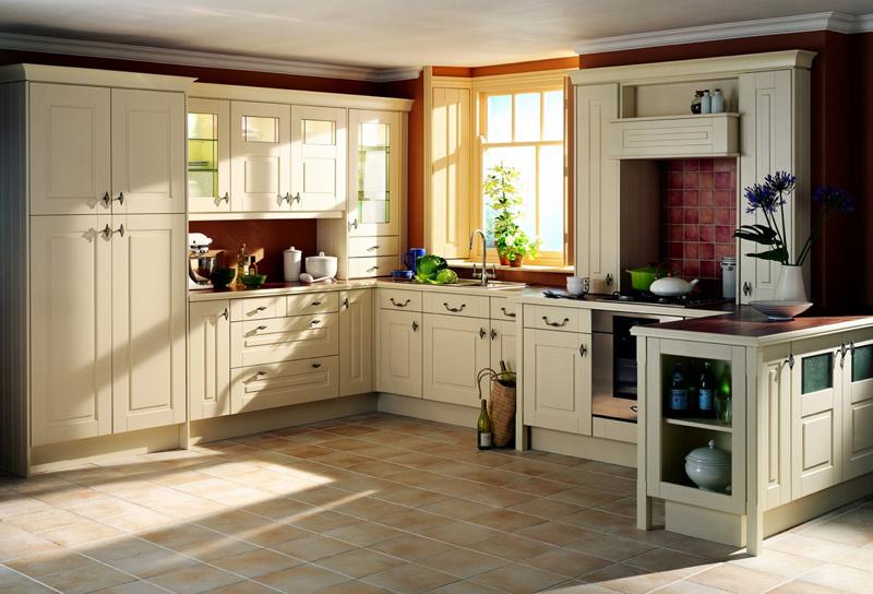 Tủ bếp cổ điển đẹp - Mẫu 05
