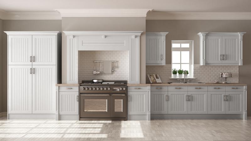 Tủ bếp cổ điển đẹp - Mẫu 09