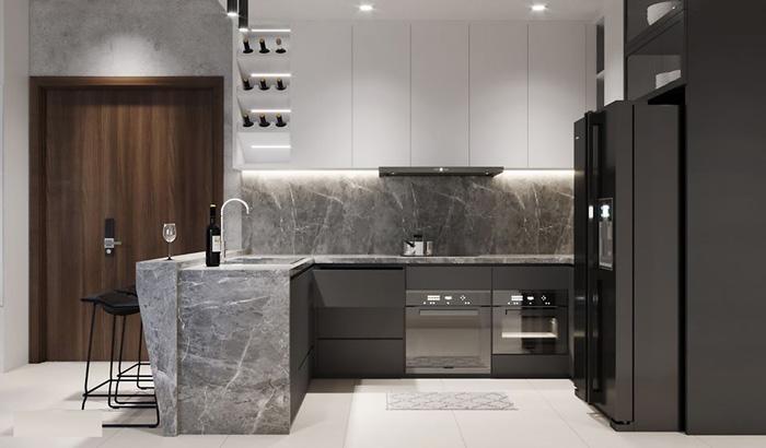 chất liệu dùng trong thi công nội thất nhà bếp - hình 04