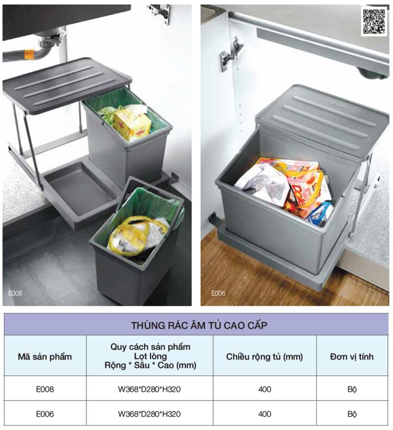 Mẫu thùng rác dành riêng cho tủ nhà bếp - Hình 04