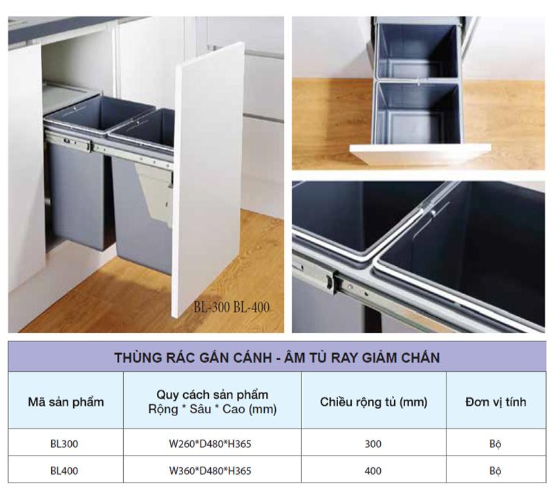 Mẫu thùng rác dành riêng cho tủ nhà bếp - Hình 05