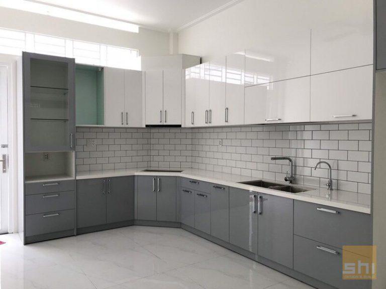 tủ bếp đẹp acrylic - tb52