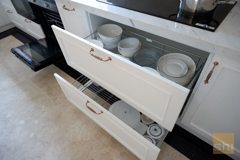 kệ xoong nồi chén đĩa tủ bếp