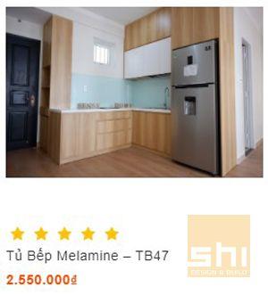 tủ bếp melamine sang trọng và phong cách