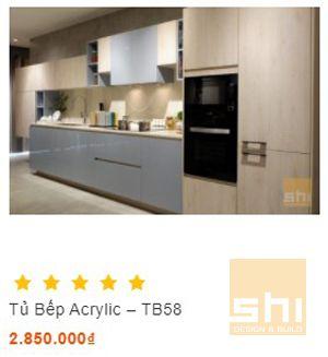 tủ bếp acrylic sang trọng
