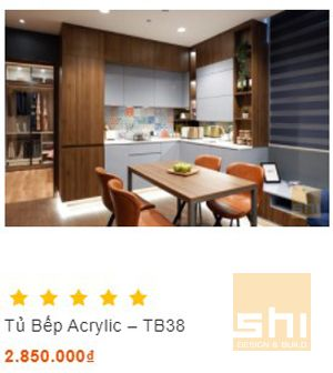 tủ bếp acrylic đẹp cao cấp