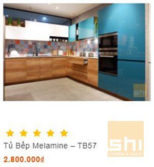 tủ bếp đẹp kiểu chữ l đầy đủ tiện nghi