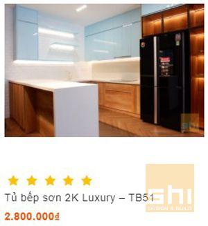tủ bếp đẹp melamine kết hợp acrylic