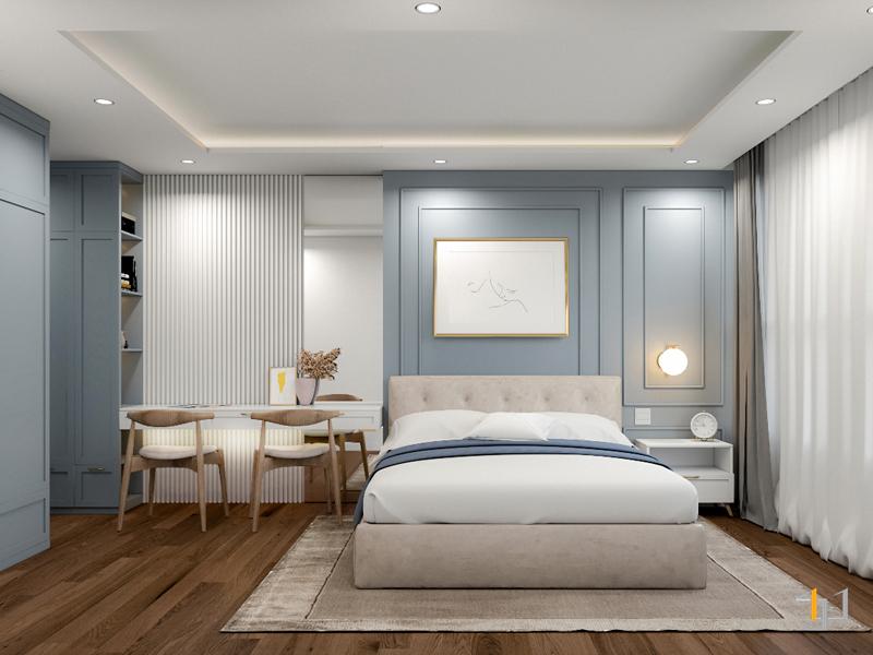 Trang trí phòng ngủ bằng chi tiết phào chỉ