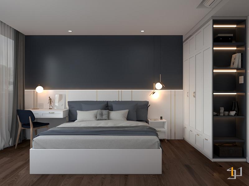 Thiết kế nội thất phòng ngủ phụ đơn giản và tinh tế