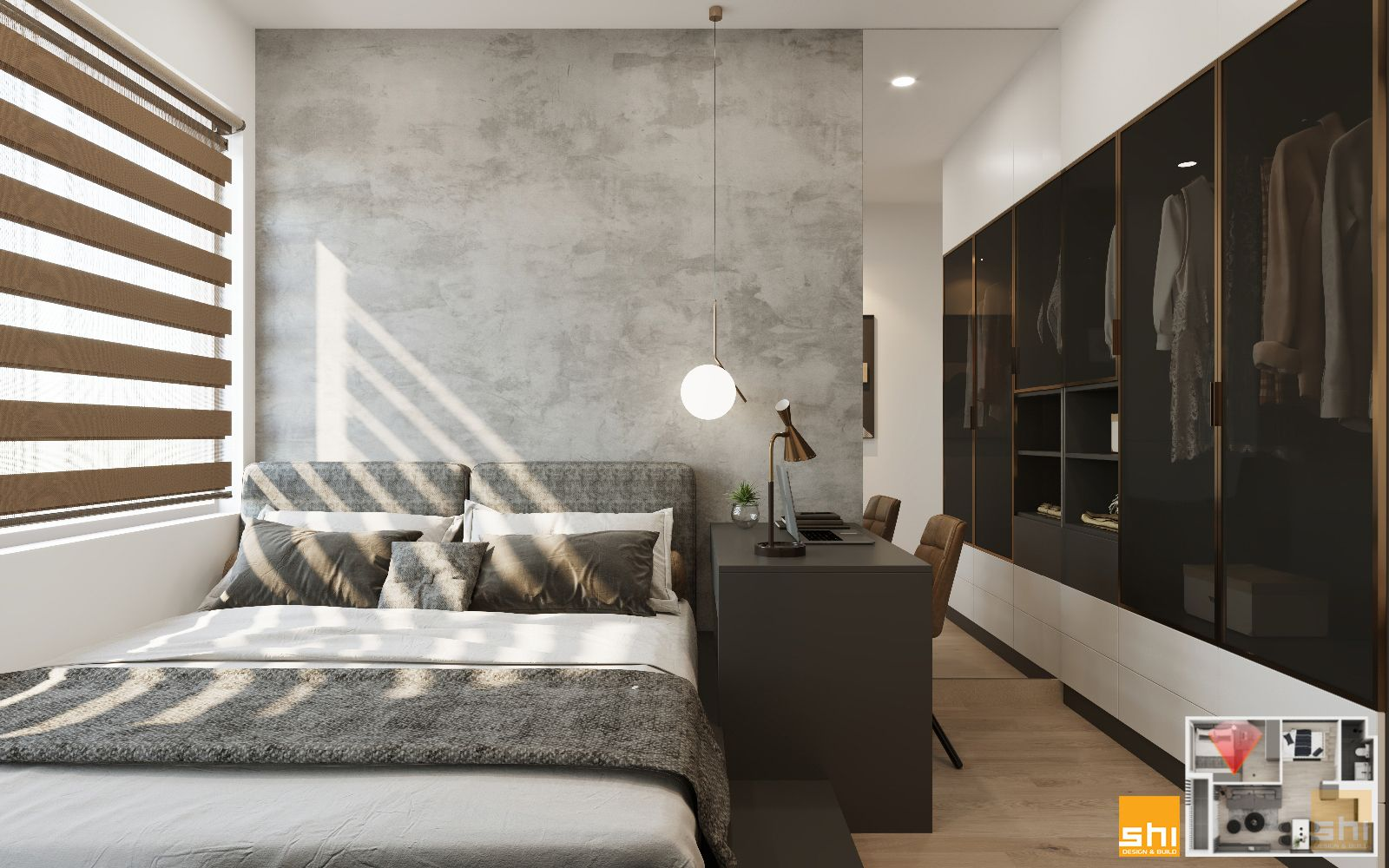 thiết kế nội thất căn hộ 1 phòng ngủ - 05