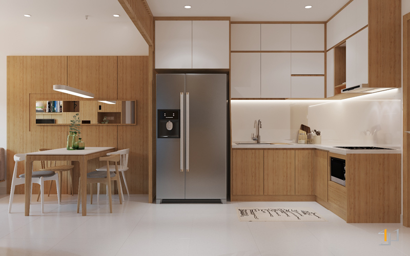 Các vật dụng nội thất bếp được bố trí khoa học