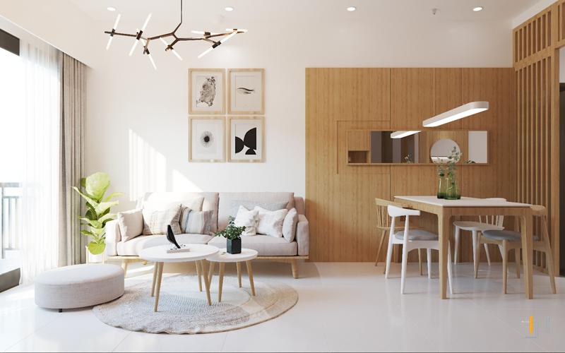 Bố trí phòng khách và phòng ăn liên thông với nhau