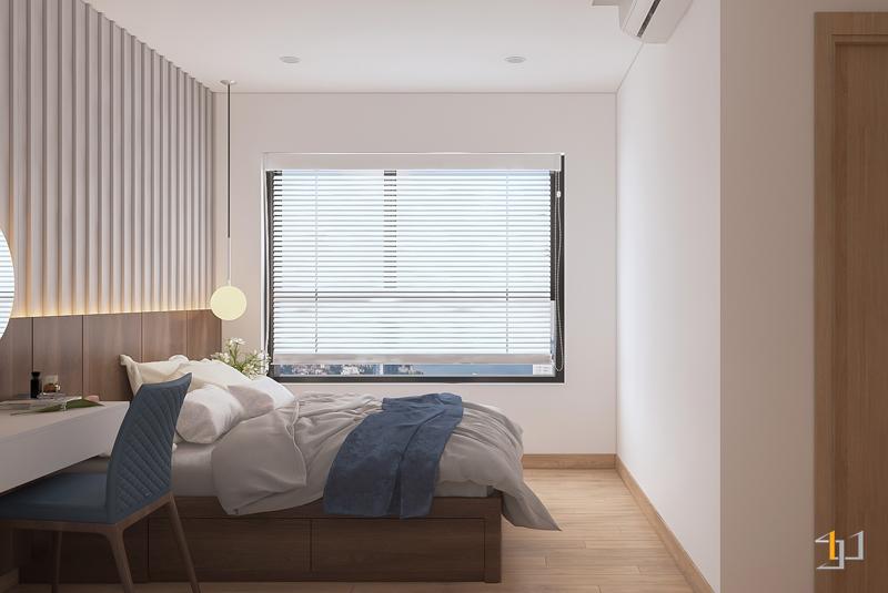 Căn phòng được tạo điểm nhấn bằng phảo chỉ