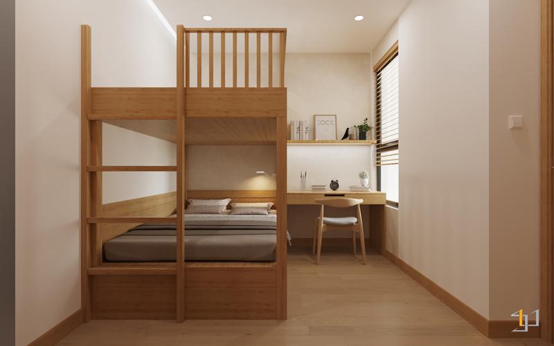 Thiết kế giường tầng dôi cho bé