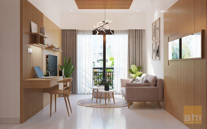 thiết kế nội thất căn hộ 70m2 - 02