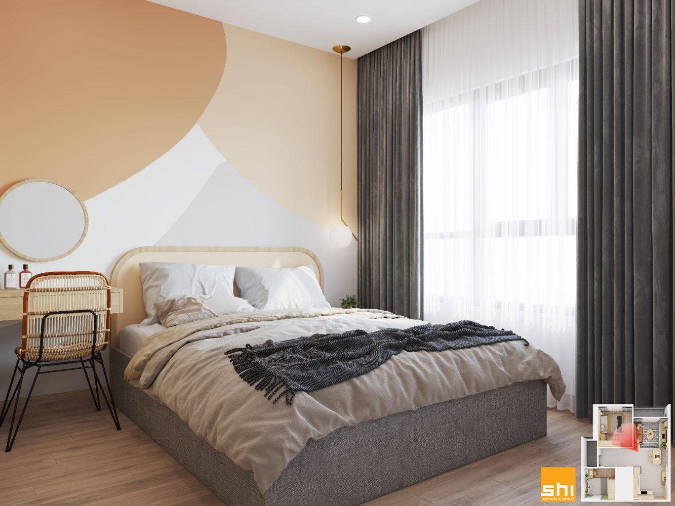 Thiết kế nội thất căn hộ 65m2 2 phòng ngủ - 07