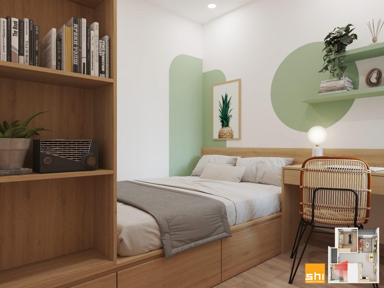 Thiết kế nội thất căn hộ 65m2 2 phòng ngủ - 09