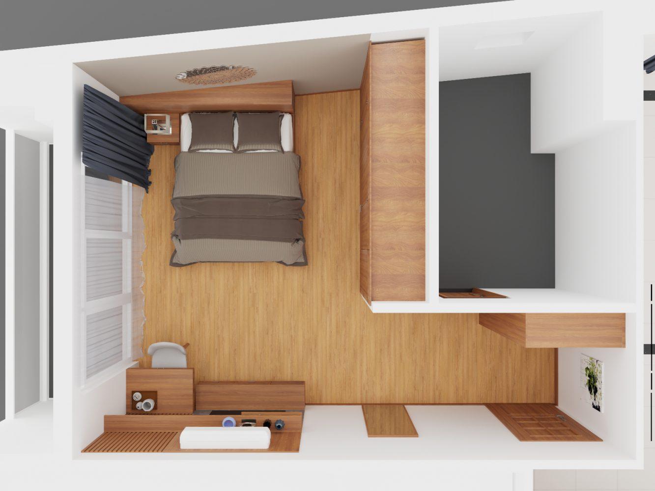 Thiết kế nội thất căn hộ 3 phòng ngủ - 03