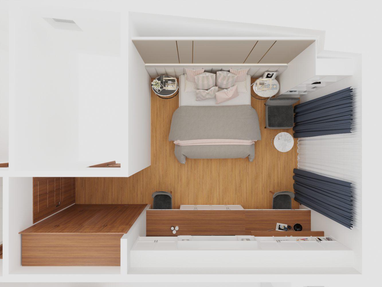 Thiết kế nội thất căn hộ 3 phòng ngủ - 07