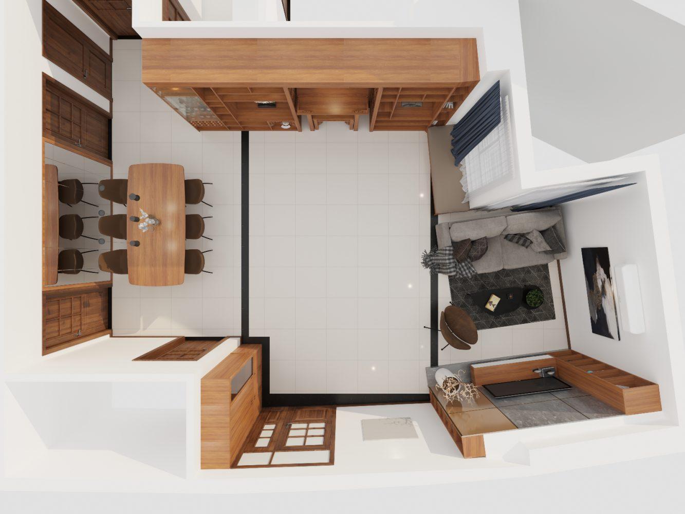 Thiết kế nội thất căn hộ 3 phòng ngủ - 01