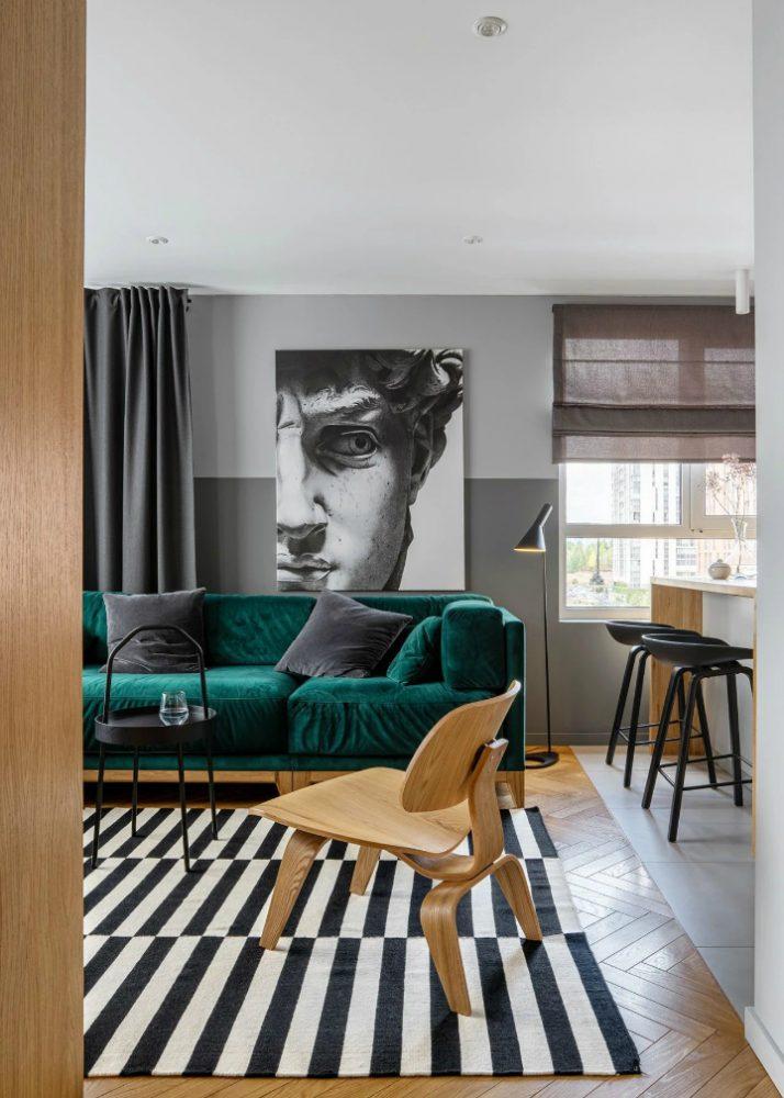 thiết kế nội thất căn hộ chung cư 68m2 - 01