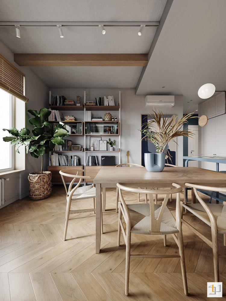 thiết kế nội thất chung cư 55m2 - 10