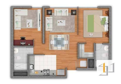 thiết kế nội thất chung cư 55m2 - 02